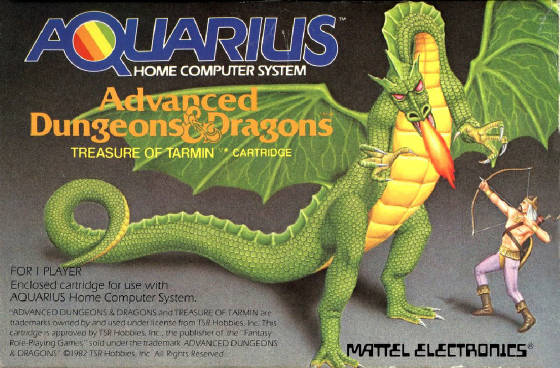 Mattel Aquarius Advanced Dungeons And Dragons - Treasure Of Tarmin